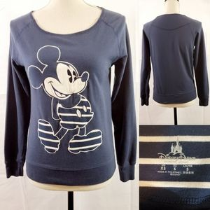 Disney Mickey Mouse Blue Graphic Print Sweater XS